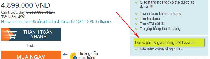 Không áp dụng voucher cho những sản phẩm thuộc hàng điện tử và có hiển thị như hình này