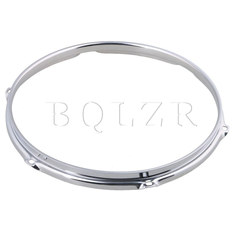 12 Inch 6 hole Snare Drum Hoops Rims for Drums and Percussion Silver - intl