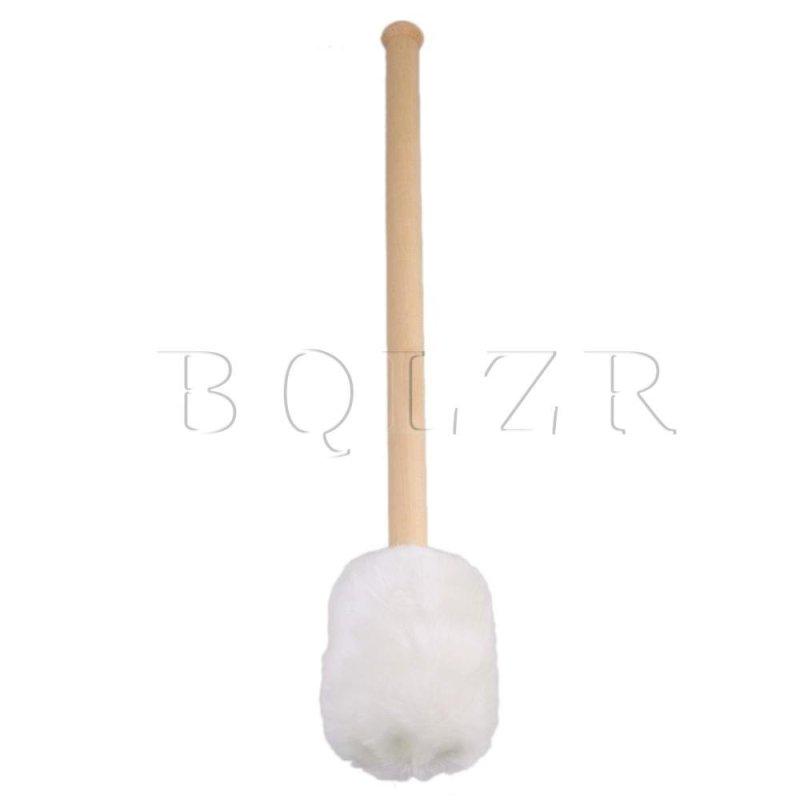 16Inch 6.2cm Dia Bass Drum Soft Felt Head Mallet Cork Core Handle Wood - intl