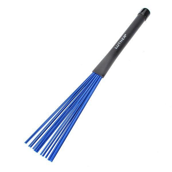 1Pair Blue Nylon Drum Brushes Sticks Drumsticks Rock Jazz W/Rubber Handles - Intl