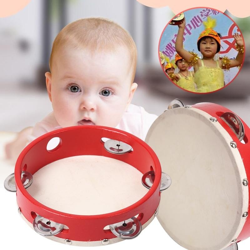 "2017 Musical Children Tambourine 7"" Percussion Kids Learn Play Toy Gift - intl"