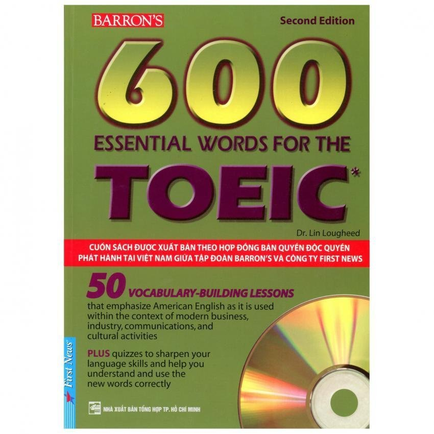 600 Essential Words For The Toeic +2CD khổ lớn