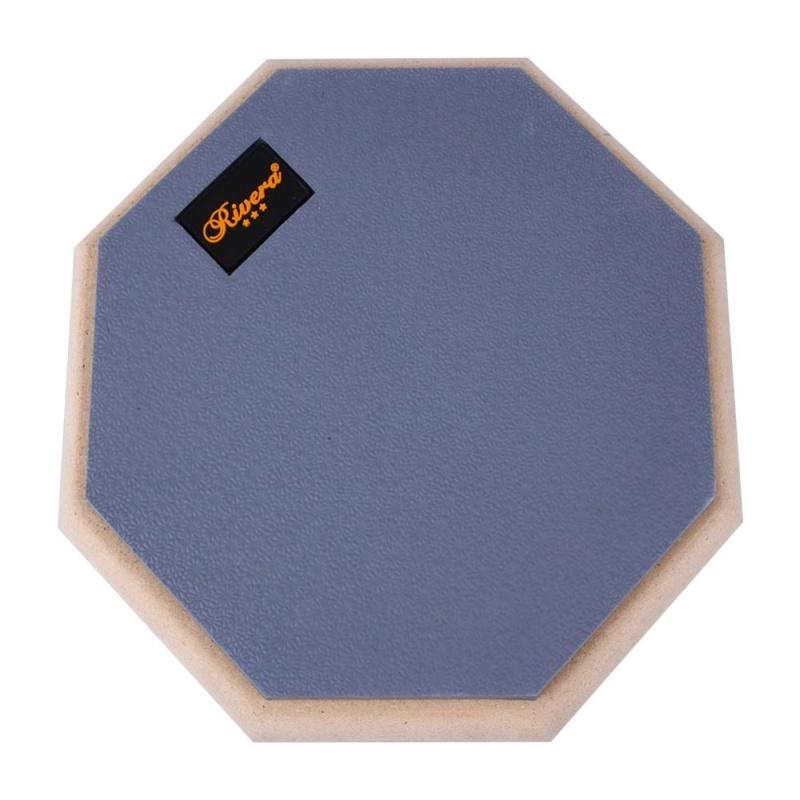 8 Inch Dumb Drum Pad Practice Blow Mat Plate for Beginner Drummer Rubber Wooden - intl