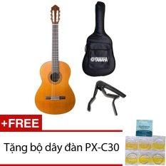Bộ đàn guitar Classic Yamaha C40 + Bao đàn và Capo + Tặng bộ dây đàn PX-C30