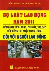 Bộ Luật Lao Động Năm 2011 - Liên Quan Tiền Lương, Phụ Cấp, Trợ Cấp Tiền Công Thu Nhập Hàng Tháng Đối Với Người Lao Động - Bộ Lao Động Thương Binh Và Xã Hội