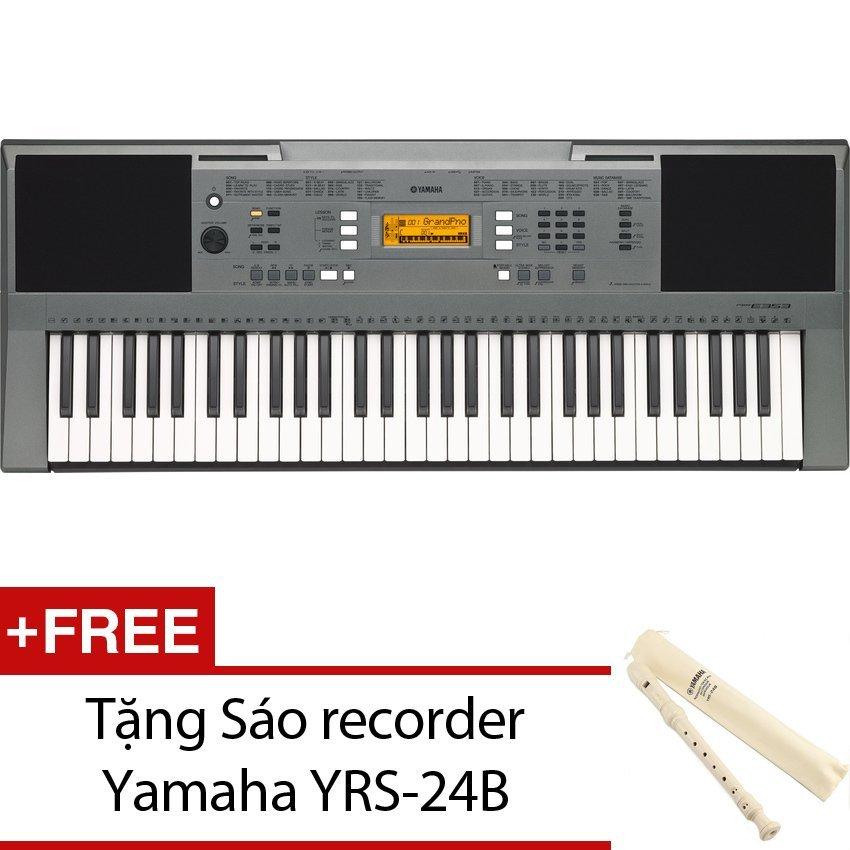 Đàn organ Yamaha PSR-E353 (Đen) + Tặng sáo recorder Yamaha YRS-24B