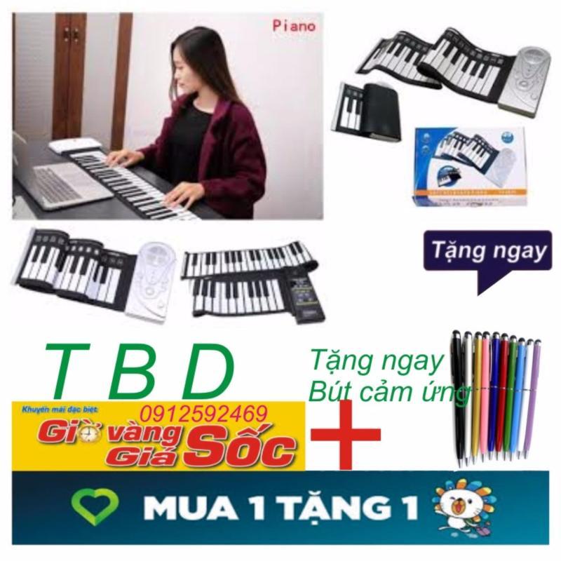 Đàn piano điện tử bàn phím cuộn dẻo 49 keys+ Tặng bút cảm ứng