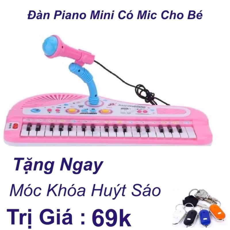 Đàn Piano Mini Có Míc Cho Bé Chất Lượng Âm Thanh Hay Loại Mới 2017 + Móc Khóa Huýt Sáo Trị Giá 69k
