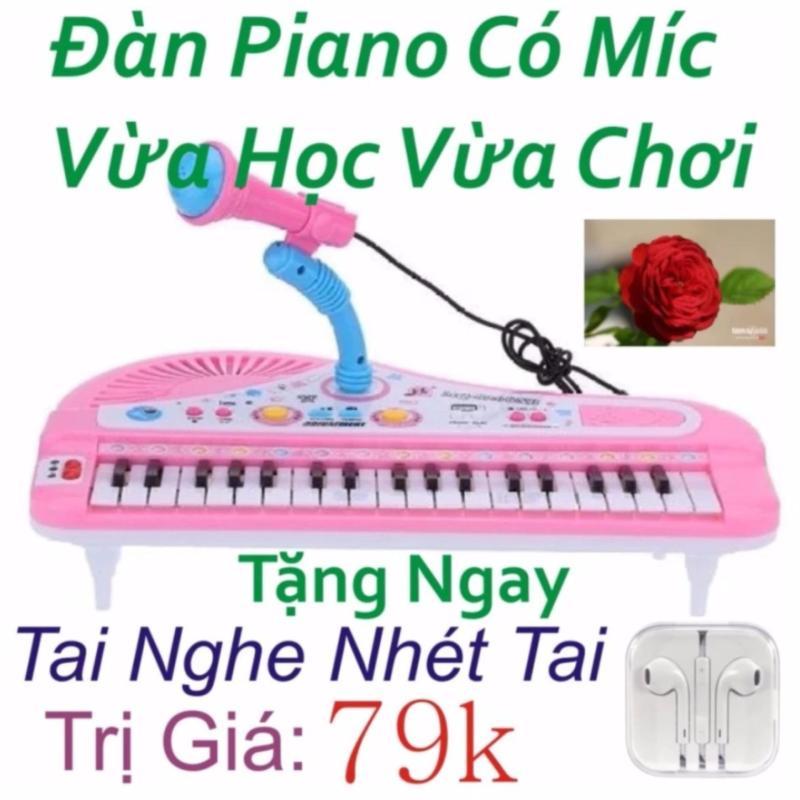 Đàn Piano Mini Có Míc Cho Bé Chất Lượng Âm Thanh Hay Loại Mới + Tặng ngay Tai Nghe Nhét Tai Trị Giá 79k