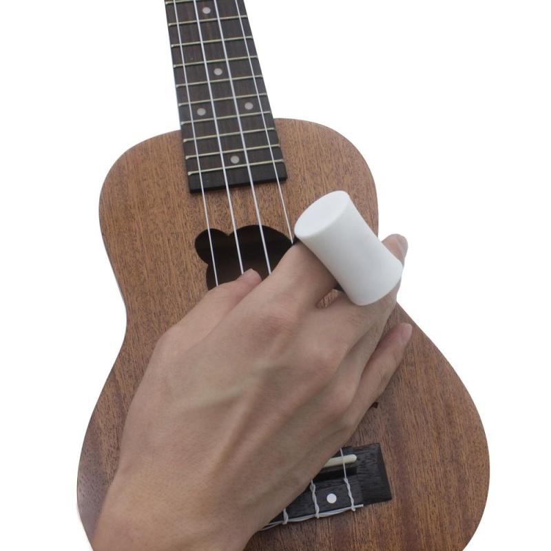 Finger Sand Hammer Maracas Shaker Percussion Musical Instrument Rhythm Accompaniment for Guitar Ukelele White - intl