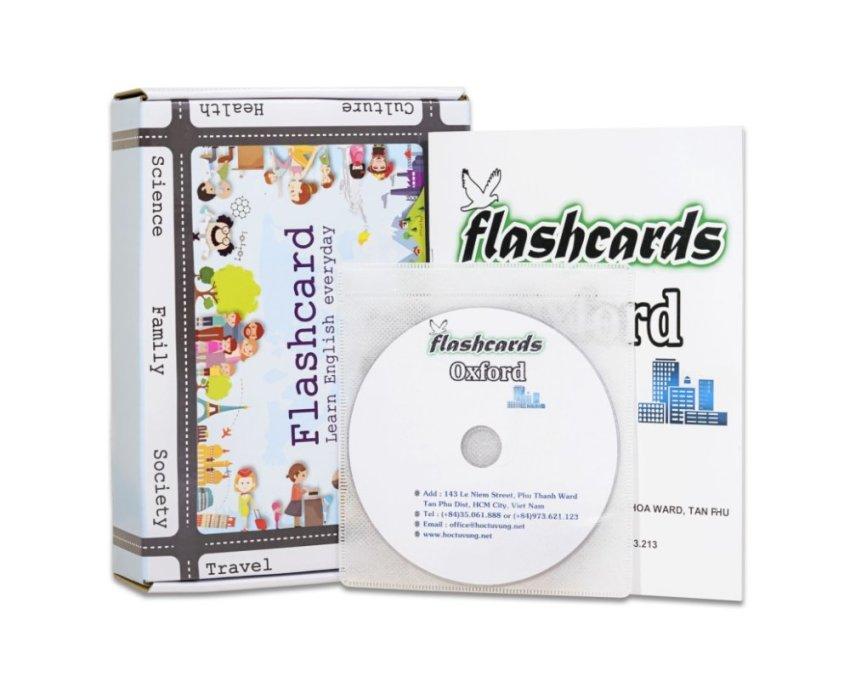 Flashcard Oxford combo 8 bộ Flashcard luyện thi TOEFL kèm DVD và sách hướng dẫn (mã Z05AD)