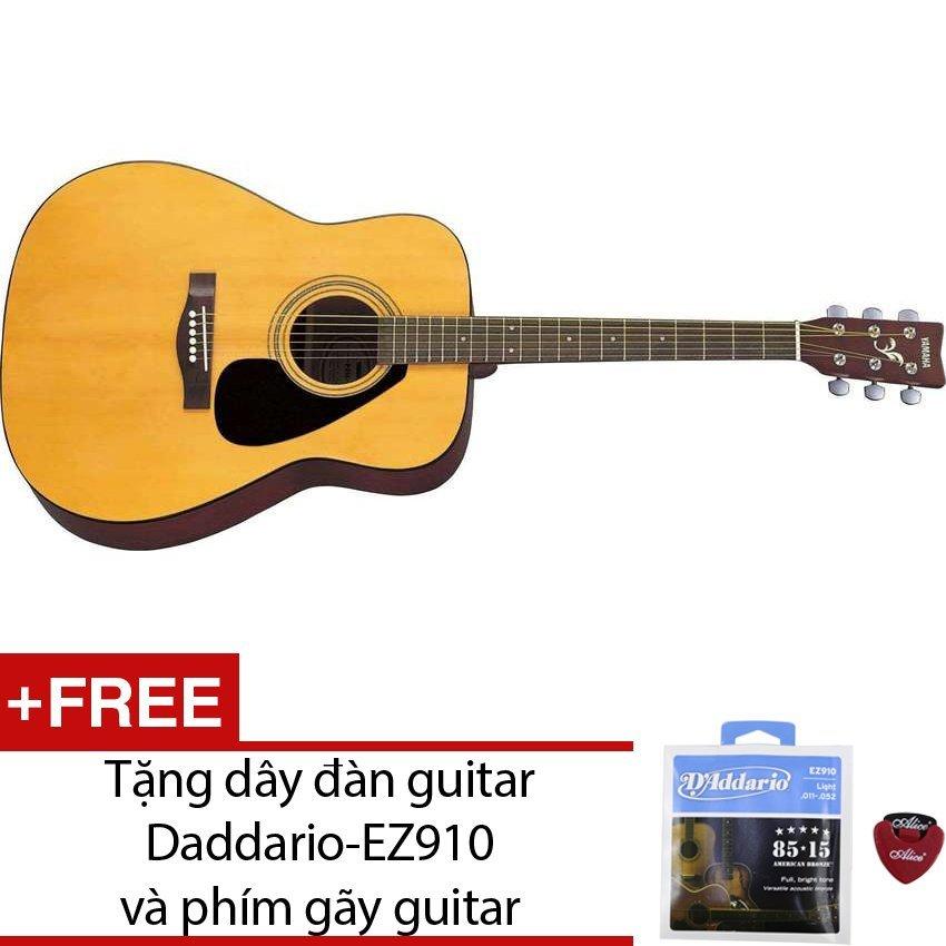Guitar Yamaha acoustic F310 + Tặng dây đàn guitar Daddario-EZ910 và phím gãy guitar