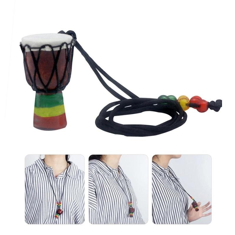 Handmade Dejembe African Drum Necklace Percussion Instrument Accessories - intl