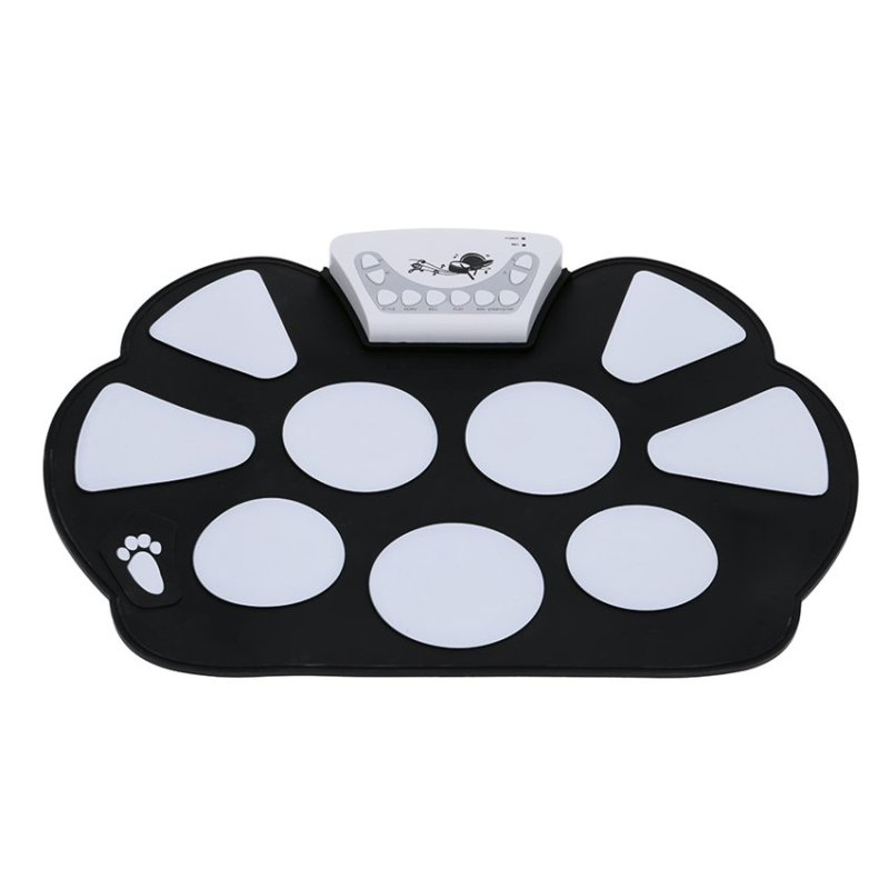 High Quality Silicon Foldable with Stick Portable Drum Electronic Drum USB Drum (white) - intl
