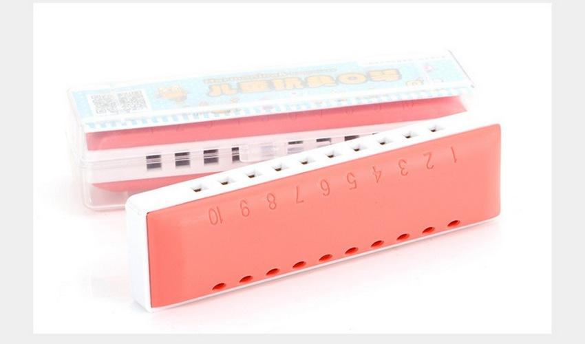 Kèn harmonica diatonic KongSheng Plastic key C (Trắng Đỏ)