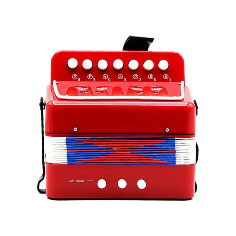 Kids Children 7-Key 2 Bass Mini Small Accordion Educational Musical Instrument Rhythm Band Toy - intl