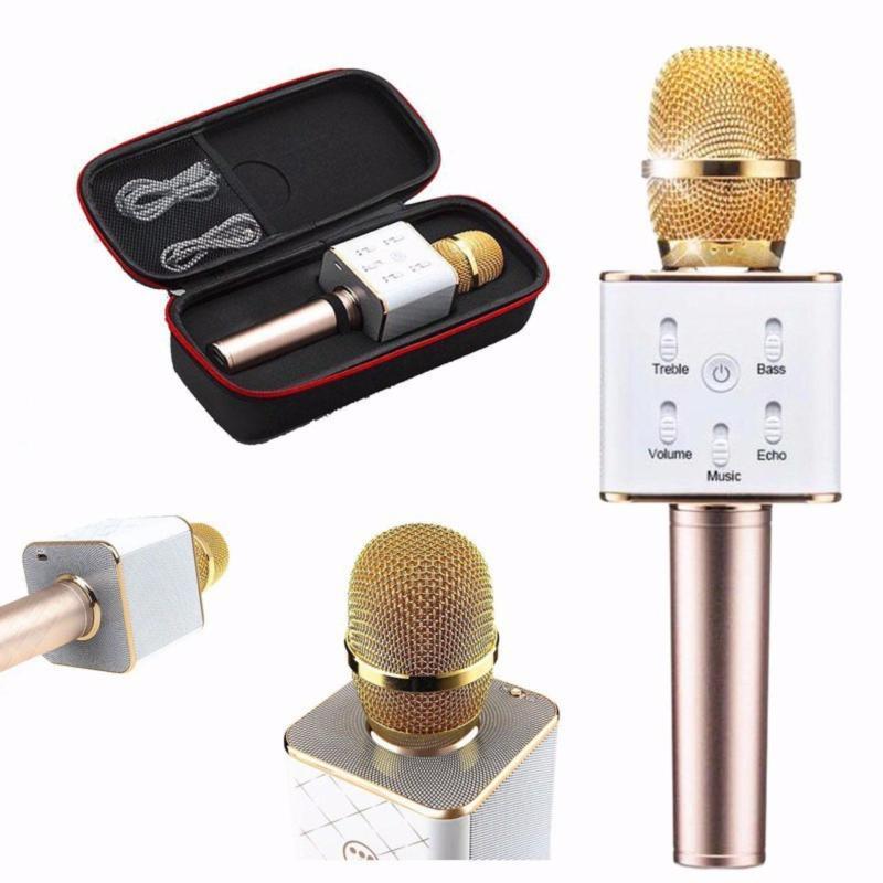 Micro Karaoke Bluetooth Q7 vàng , hồng
