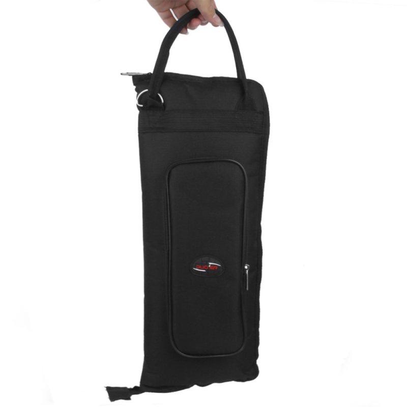 Nylon Padded Drum Stick Drumsticks Bag Case Shoulder Bag Black - intl