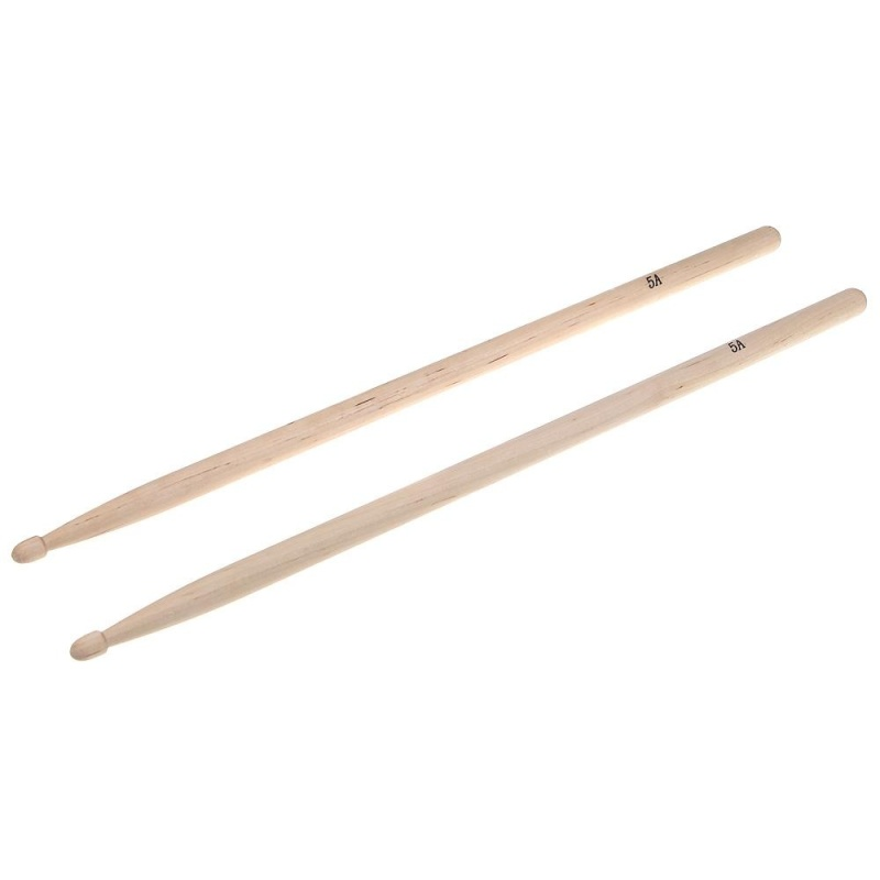 Pair of 5A Maple Wood Drumsticks Stick for Drum Set Lightweight Professional - intl