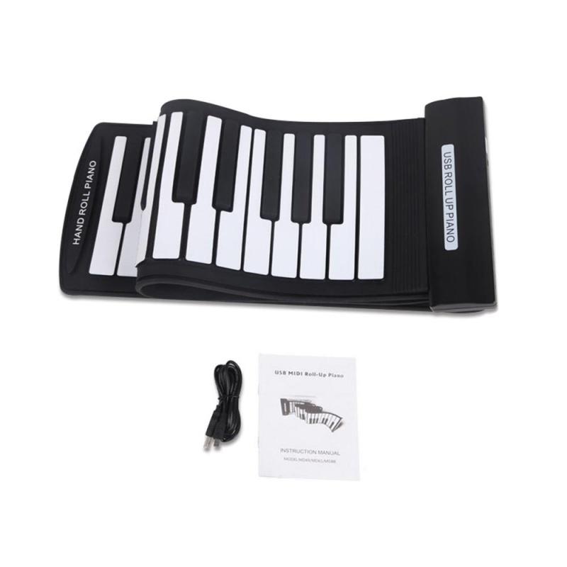 Portable 61 Keys Flexible Roll-Up Piano USB MIDI Electronic Keyboard Hand Roll Piano ^ - intl