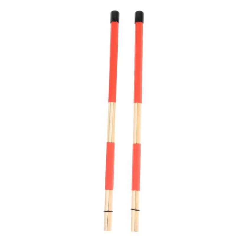 Professional Bamboo Drum Brush Bundle Stick Bamboo Drum Stick - intl