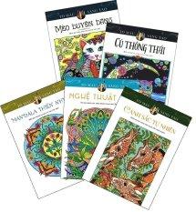 Sách tô màu dành cho người lớn: Cảnh Sắc Tự Nhiên (Bộ 5 Cuốn) - Nhiều dịch giả và Nhiều tác giả