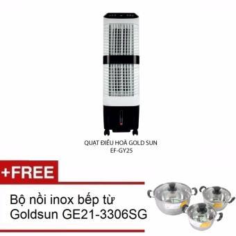 Quạt điều hòa Goldsun EF GY25 tặng bộ nồi Goldsun inox bếp từ GE21