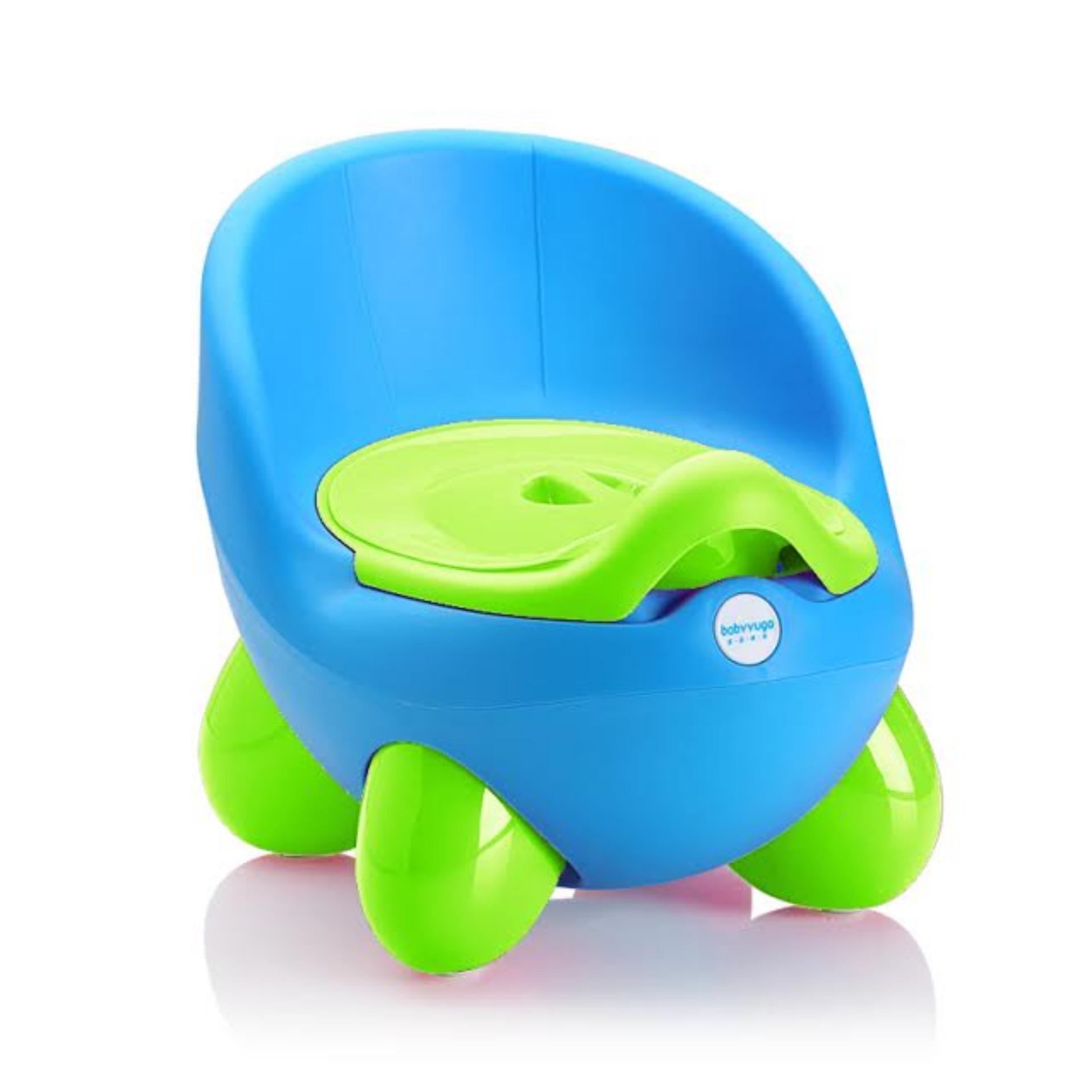 Bô vệ sinh cho bé (xanh dương phối xanh chuối)