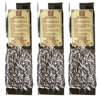 Bộ 3 túi Trà Shan tuyết suối giàng Bạch Hạc Trà 100g (Túi hút chân không)