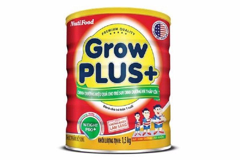 Sữa bột Nutifood GrowPLUS+ cho trẻ suy dinh dưỡng thấp còi Lon 1,5Kg (Đỏ)