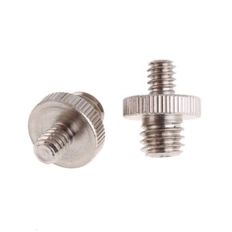 "3/8"" Male to 1/4"" Male Threaded Screw Adapter (Bạc)"