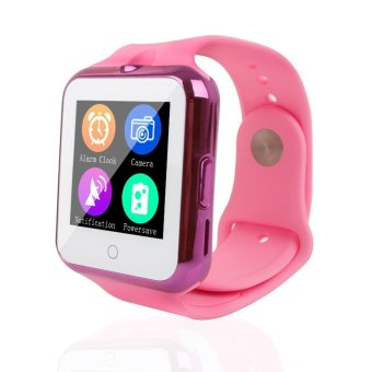 Bluetooth C88 Sync Notify TF SIM camera Smartwatch for IPhone IOS Android for Samsung Sony Xiaomi Pink intl