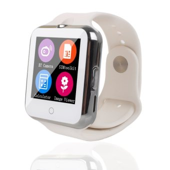 Bluetooth C88 Sync Notify TF SIM camera Smartwatch for IPhone IOS Android for Samsung Sony Xiaomi White intl