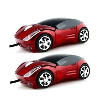 Bộ 2 Chuột máy tính hình ô tô Protab có đèn led phát sáng đỏ