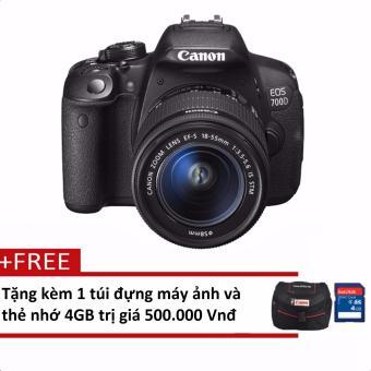 Canon 700D 18MP với Lens kit 18-55mm IS STM 18MP (Đen) + Tặng 1 túi đựng máy ảnh và 1 thẻ nhớ 4GB- Hãng phân phối chính thức
