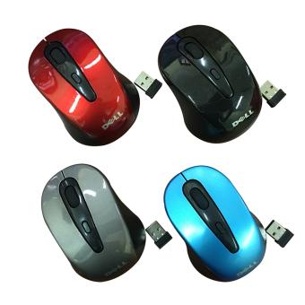 Chuột không dây Dell 2 4 GHz wirless mouse Đen Xanh