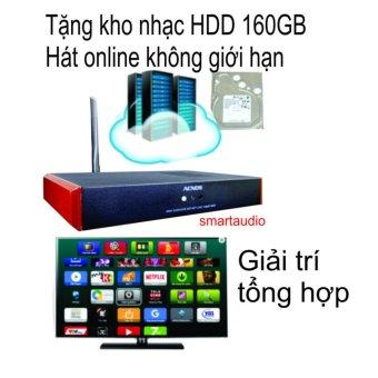 Đầu karaoke wifi Online & Offline Android Acnos KM4 (Tặng HDD 160GB)