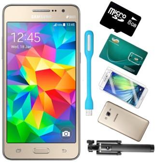 Bộ Samsung Galaxy Grand Prime G530 8GB (Vàng) - Hàng nhập khẩu + Gậy Chụp hình + Sim Viettel + Thẻ nhớ 8 GB + ỐP Lưng + Dán cường lực
