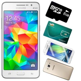 Bộ 1 Samsung Galaxy Grand Prime G530 8GB (Trắng) - Hàng nhập khẩu + 1 Sim Viettel + 1 thẻ Nhớ 8 GB + 1 Ốp Lưng + 1 Dán Cường Lực