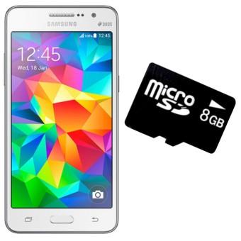 Bộ 1 Samsung Galaxy Grand Prime G530 8GB (Trắng) - Hàng nhập khẩu + 1 Thẻ Nhớ 8 GB