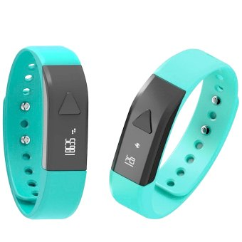 Iwown I5 Smart Bracelet Sports Wristband Watch Activity Wristband Sports Watch Cell Phone Mate with Pedometer Activity Tracker Sleep Monitoring Anti Lost Sedentary Function for iPhone 5S 6 Plus HTC One M8 Sony Z3 Huawei Samsung Galaxy Note 5 Blue