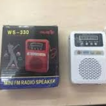 Loa di động Nghe Nhạc FM WSTER WS 330 Trắng