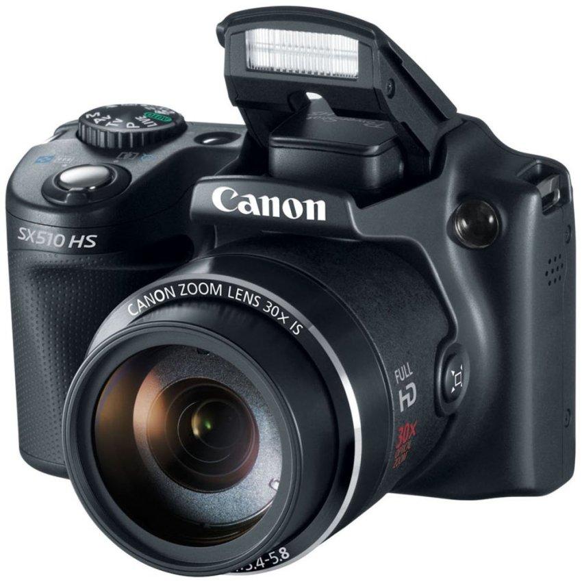Máy ảnh KTS Canon Powershot SX510 HS 12MP và Zoom quang 30x (Đen)