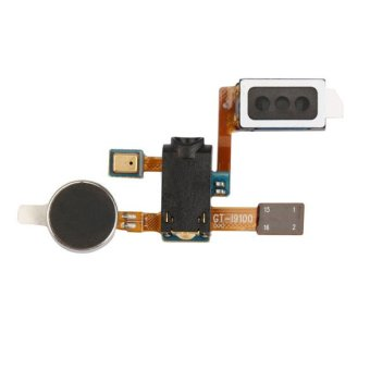 New Ear Piece Speaker Audio Jack Mic Flex Cable Part for Samsung S2 i9100 intl