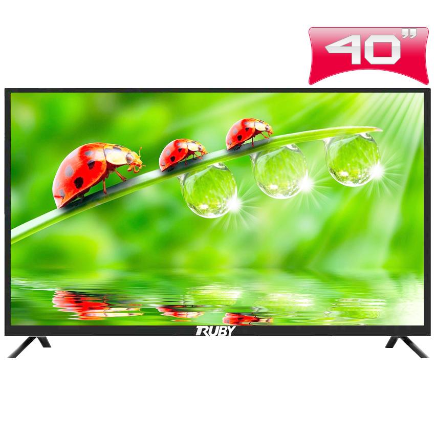 Tivi led RUBY màn hình cường lực 40 inch Siêu mỏng – Siêu bền – Siêu sang,viền hợp kim sang trọng lịch lãm.