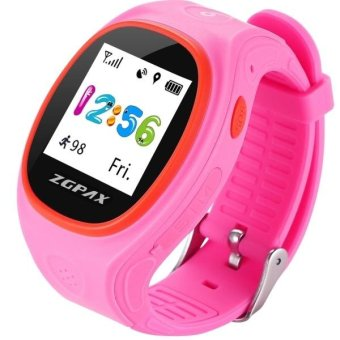 ZGPAX S866A 1 22 Inch IPS Screen Lovely Children Smartwatch GPS Tracking Watch Support SIM Card 2G Network Accurate Positioning HD Voice Call Pedometer Alarm Clock Family Number Speed Dial Pink intl