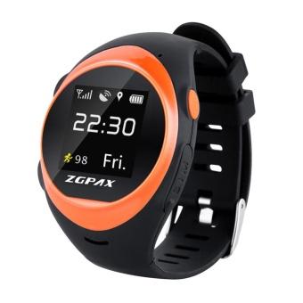 ZGPAX X83 Wrist Smart Phone Watch MTK2503D WIFI GSM Elder SOS GPS Tracking Orange intl
