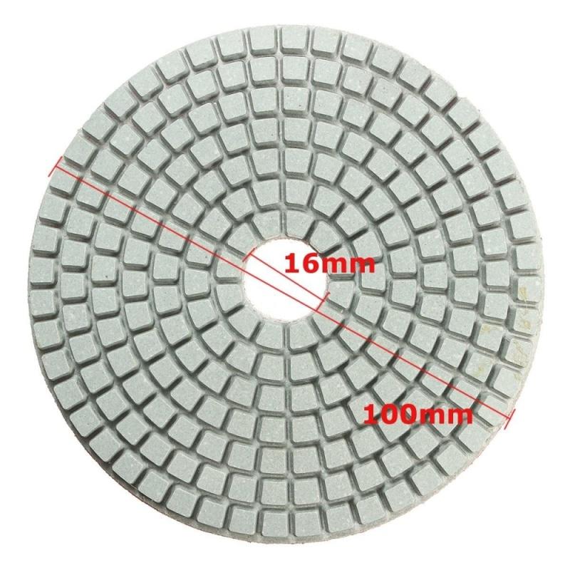 "100mm (4"") Wet Diamond polishing pads Granite Marble 7 pad set - intl"