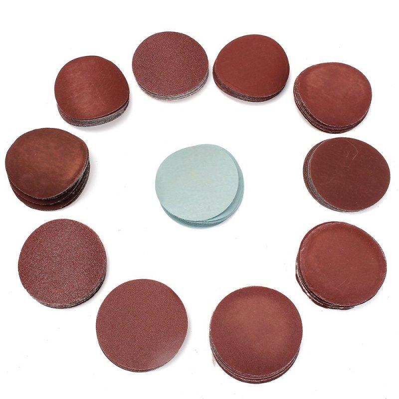 100Pcs 3 Inch 75mm Sander Disc Mix Sanding Polishing Flocking Pad Sandpaper - intl