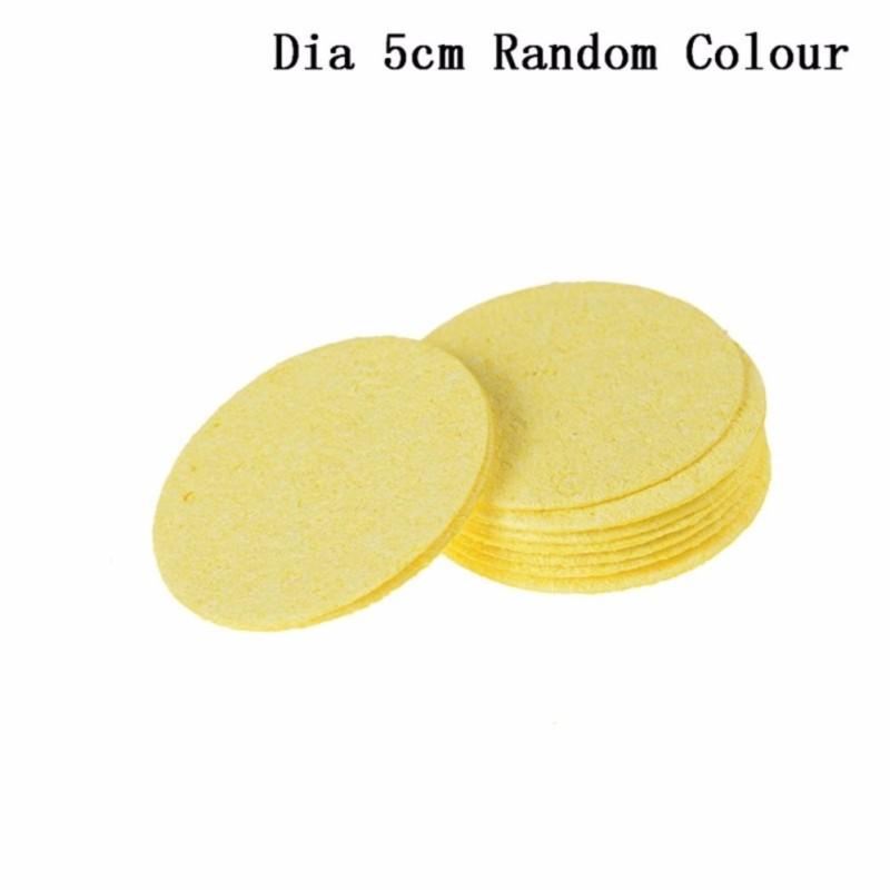10Pcs High Temperature Sponge Clean Tin Welding Soldering Iron Round Square A2:5cm - intl